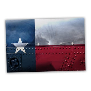 Texas State Flag 18x12 Patriotic Flag Ready to Hang Printed on Metal Wall Decor