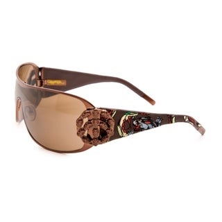 Ed Hardy Ehs-038 New York City Latte/ Brown Sunglasses