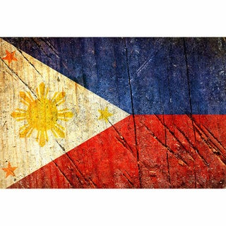 Philippines 12x18 Flag Ready to Hang Printed on Metal Wall Decor