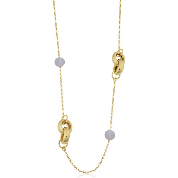 6d98fe864 Fremada 18k Yellow Gold Over Sterling Silver Italian Oval Links and  Cat's
