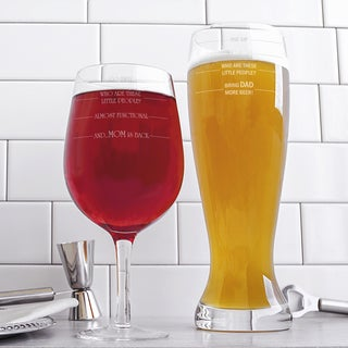 Parent Extra Large Beer and Wine Glass Set