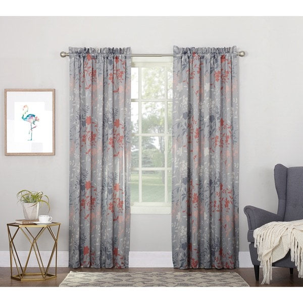 sun zero andy rod pocket room darkening curtain panel - Room Darkening Curtains