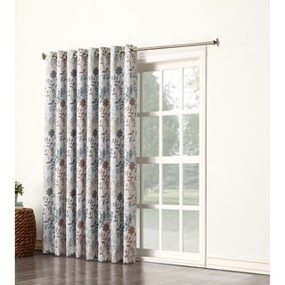 Sun Zero Andy Room Darkening Wide Patio Door Curtain Panel