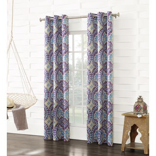 Sun Zero Talitha Grommet Room Darkening Curtain Panel