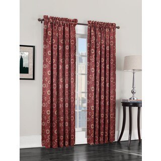 Sun Zero Gail Rod Pocket Room Darkening Window Curtain Panel