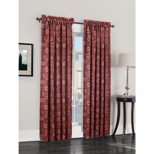 shop sun zero gail rod pocket room darkening window curtain panel on sale free shipping on. Black Bedroom Furniture Sets. Home Design Ideas