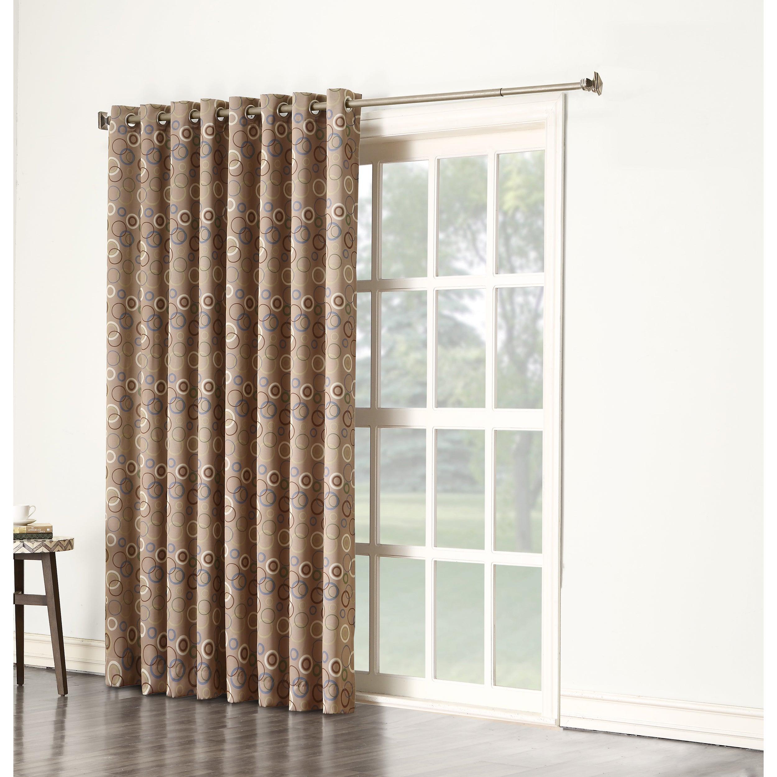 Sun Zero Gail Grommet Room Darkening Window Patio Curtain...
