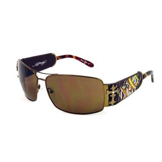 Ed Hardy Ehs-017 King of Bests Dog Cocoa/ Brown Sunglasses