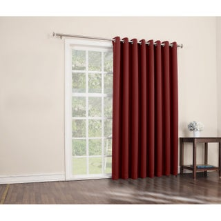 Sun Zero Hayden 100-inch x 84-inch Grommet Blackout Patio Door Window Curtain Panel (Option: Red)