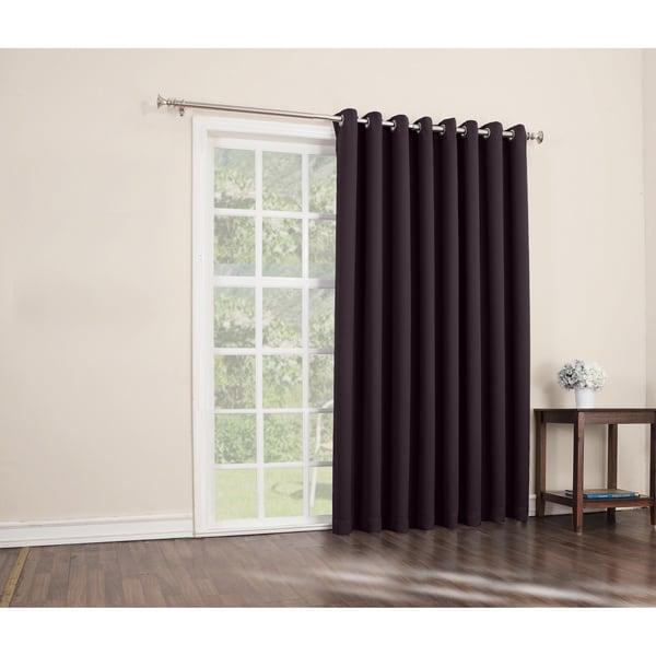 Sun Zero Hayden Grommet Blackout Patio Door Window Curtain Panel   100 X 84