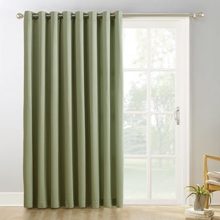 Sun Zero Hayden Grommet Blackout Patio Door Window Curtain Panel (100 x 84 - Sage Green)