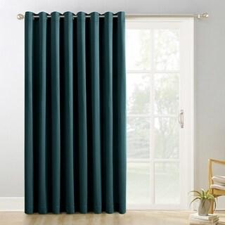 Sun Zero Hayden Grommet Blackout Patio Door Window Curtain Panel (100 x 84 - Teal)
