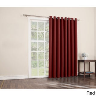 Sun Zero Hayden Grommet Blackout Patio Door Window Curtain Panel - 100 x 84 (More options available)