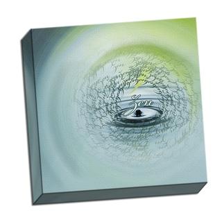Zen Word Whirlwind 16 x 16 Digital Image Printed on Metal Wall Decor