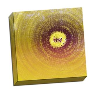 Tipsy Word Whirlwind 16 x 16 Digital Image Printed on Metal Wall Decor