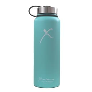 Xtreme Canteen 40-ounce Double Wall, Vacuum Insulated, 18/8 Stainless Steel Wide Mouth Water Bottle with Strap Lid