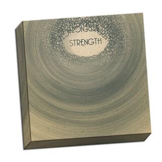 Strength Word Whirlwind 16 x 16 Digital Image Printed on Metal Wall Decor