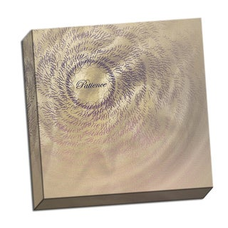 Patience Word Whirlwind 16 x 16 Digital Image Printed on Metal Wall Decor