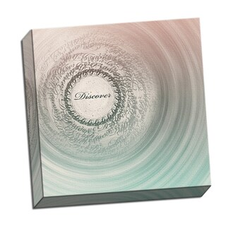 Discover Word Whirlwind 16 x 16 Digital Image Printed on Metal Wall Decor