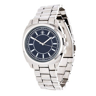 Fortune NYC Boyfriend Silver Case and Blue Dial / Silver Strap Watch