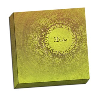 Desire Word Whirlwind 16 x 16 Digital Image Printed on Metal Wall Decor