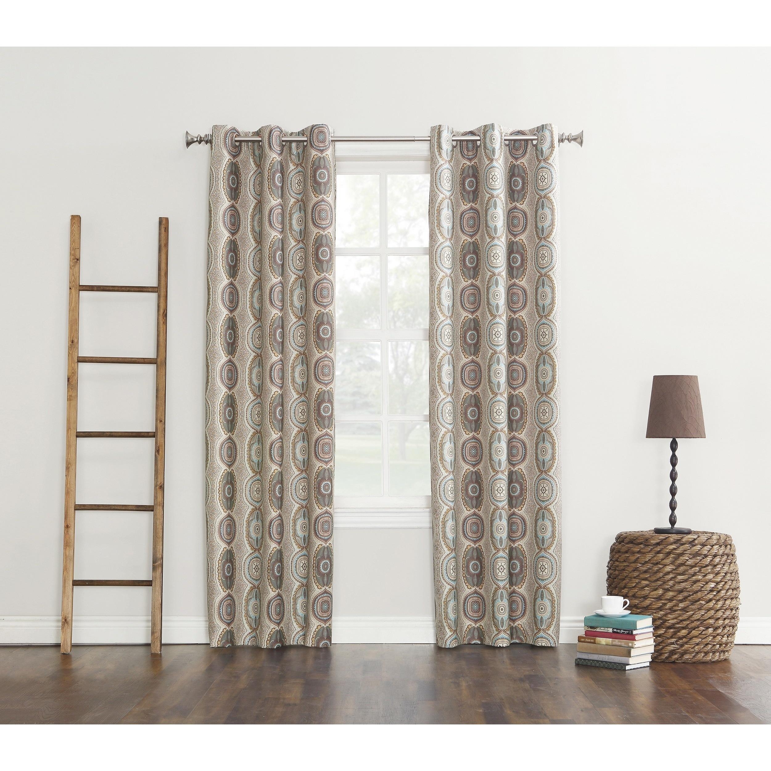 Sun Zero Carlene Grommet Thermal Lined Window Curtain Pan...