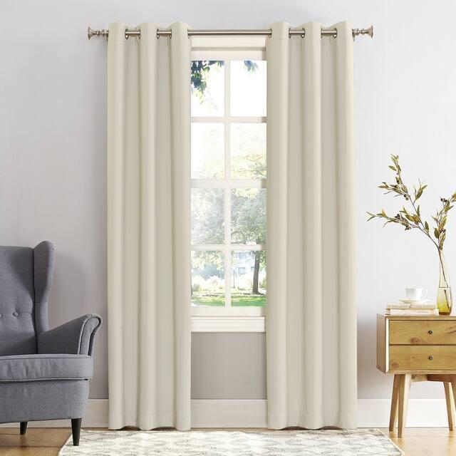 Sun Zero Hayden Energy Saving Blackout Grommet Curtain Panel, Single Panel - 40 x 108 - Pearl