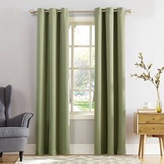 Sun Zero Hayden Grommet Blackout Single Curtain Panel (54 w x 84 l - Sage Green)