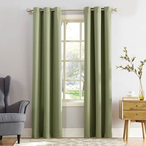 Sun Zero Hayden Energy Saving Blackout Grommet Curtain Panel