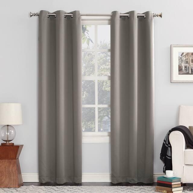 Sun Zero Hayden Energy Saving Blackout Grommet Curtain Panel, Single Panel - 40 x 84 - Grey