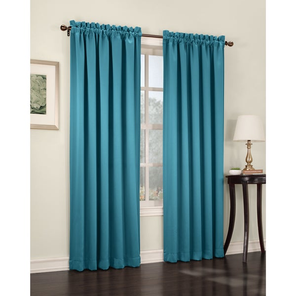 Sun Zero Galia Rod Pocket Room Darkening Window Curtain Panel or Valance