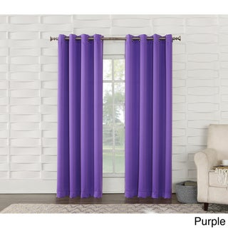 Sun Zero Galia Grommet Room Darkening Curtain Panel (Option: Purple - 95 Inches - 54 X 95)