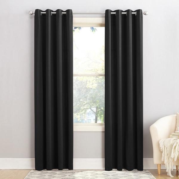 Sun Zero Galia Grommet Room Darkening Curtain Panel