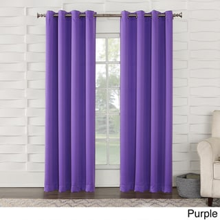 Sun Zero Galia Grommet Room Darkening Window Curtain Panel