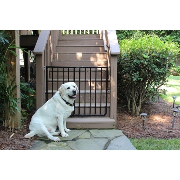 Cardinal Gates Black Outdoor Gate - White