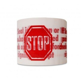 (72) 2-inch x 110 YARDS STOP SIGN PRINTED PACKING TAPES 2.0 MIL