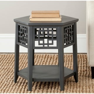 Safavieh Zelda Charcoal Grey End Table