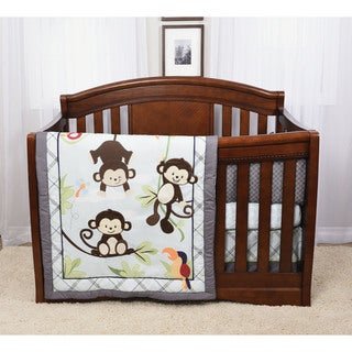 Hangin' Around 4 Piece Crib Bedding Set from Baby's First by Nemcor