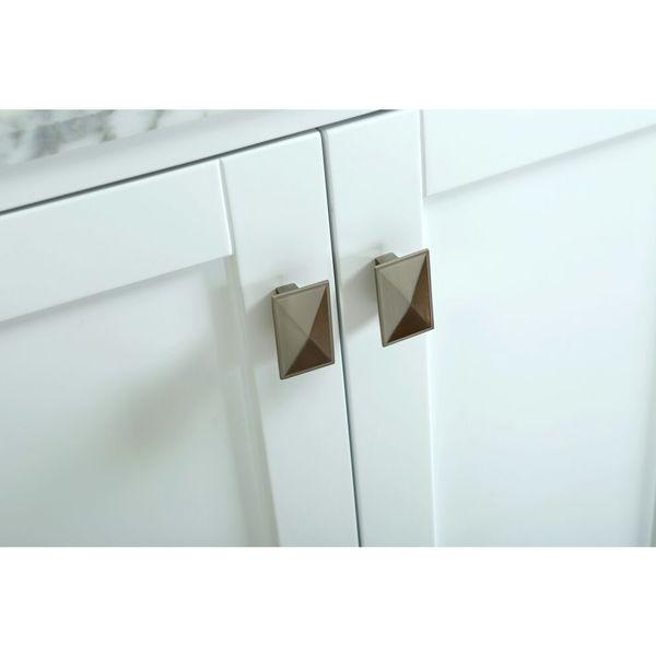 Bella Inch White Single Bathroom Vanity Set With Mirror Free