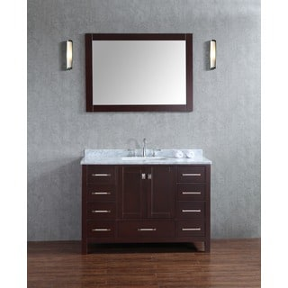 Bella SP 48 Inche Espresso Single Bathroom Vanity Set with Mirror