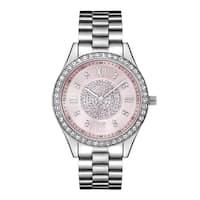JBW Woman's Stainless Steel Mondrian J6303F Pink Dial Diamond Watch
