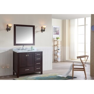 "Bella 36"" Single Bathroom Vanity Set with Mirror - Espresso"