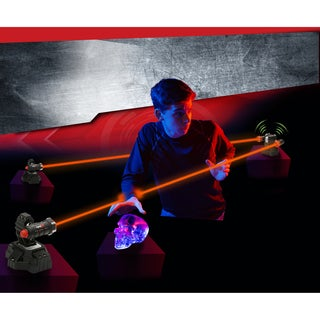 SpyX Lazer Trap Alarm - set up super bright LEDs to protect your stuff - Black