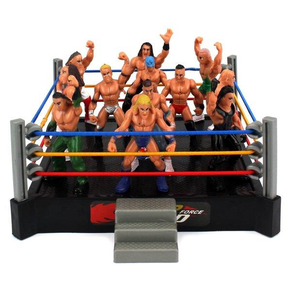 Velocity Toys Mini Smack Battle Action Wrestling Toy Figure Play Set