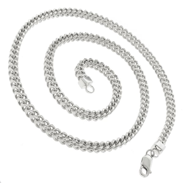 Cleaning Cloth Made in Italy 2mm .925 Sterling Silver Squared Venetian Box Link Chain Necklace