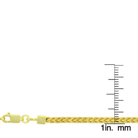 """14k Yellow Gold 3mm Hollow Franco Square Box Link Necklace Chain 18"""" - 32"""""""