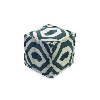 Square Geometric Designed Pouf