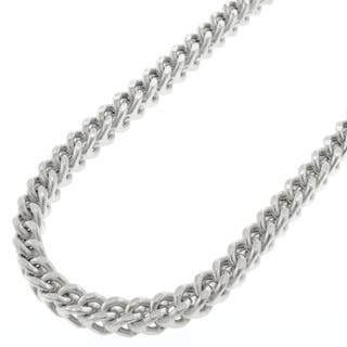 14k White Gold 4.5mm Hollow Franco Chain Necklace (Option: 34 Inch)|https://ak1.ostkcdn.com/images/products/11651135/P18582459.jpg?impolicy=medium