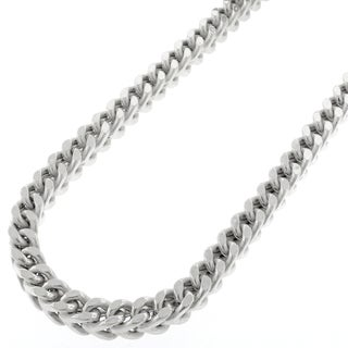 """14k White Gold 5mm Hollow Franco Square Box Link Necklace Chain 24"""" - 40"""""""
