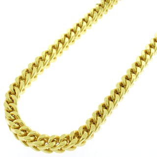 14k Yellow Gold 5mm Hollow Franco Chain Necklace